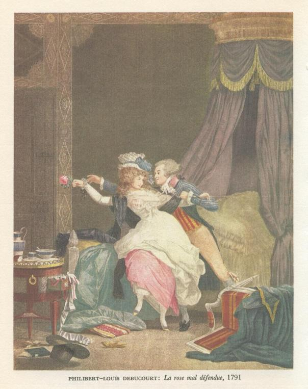 Philibert-Louis Debucourt | La Rose Mal Defendue | 1791