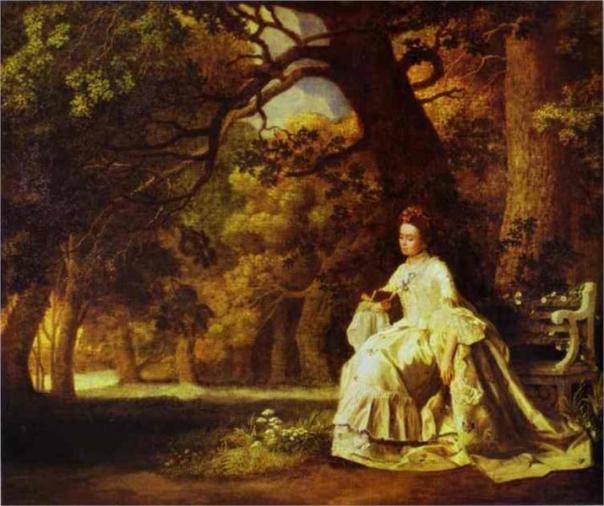 Lady Reading in a Wooded Park, 1770 | George Stubbs