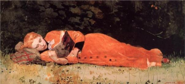 The New Novel, 1877 | WInslow Homer