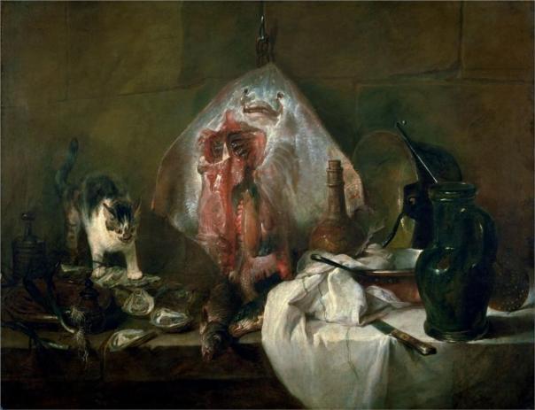 Simon Chadin's still-life The Ray 1728