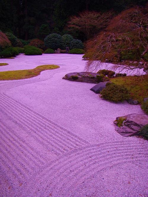 Japanese Zen Garden in Portland, Oregon