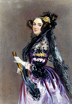 Ada Lovelace by Alfred Edward Chalon (1840)