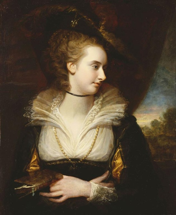 Elizabeth Milbanke, Viscountess Melbourne by Richard Cosway (1784)
