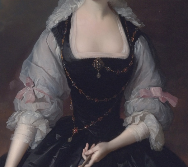 Frances Courtenay, view of bust and sleeves