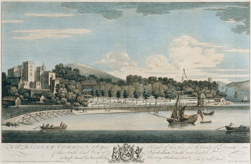 Powderham Castle in 1745