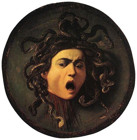Medusa by Caravaggio (1595-96)