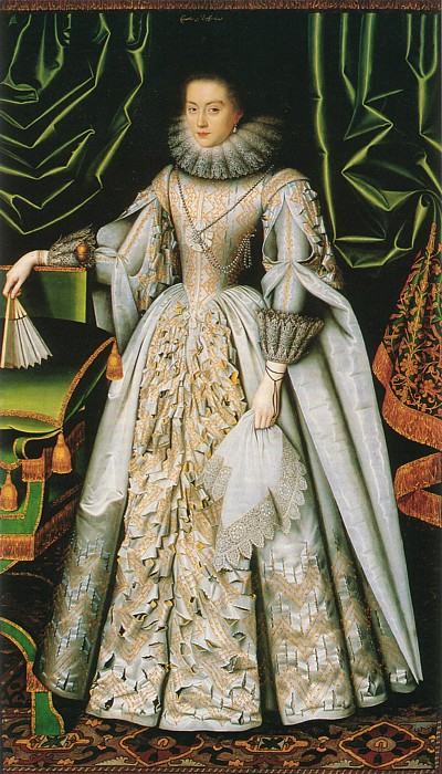 Lady Diana Cecil by William Larkin, (1614-18) (Ranger's House, Suffolk Collection)