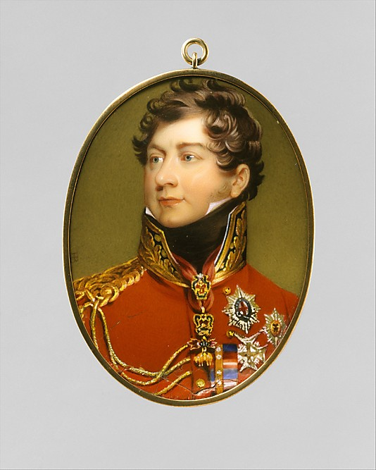 George IV  as Prince Regent, after Lawrence Henry Bone (1816) (c) Met Museum
