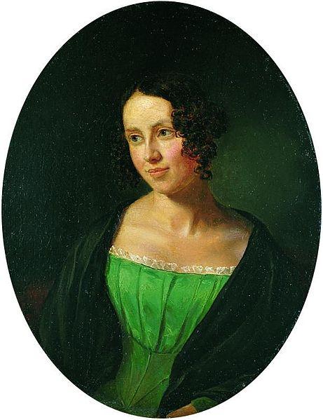 Regine Olsen by Emil Bærentzen (1840)