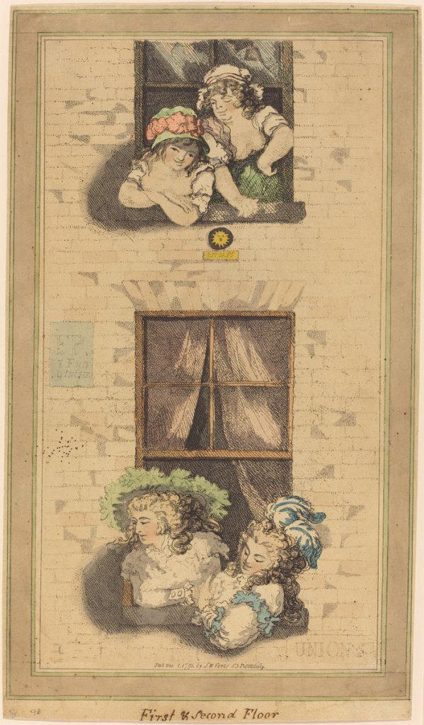 First and Second Floor by Thomas Rowlandson (1791)