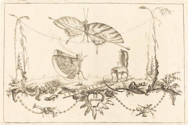 Le Bateleur by Charles Germain de Saint-Aubin