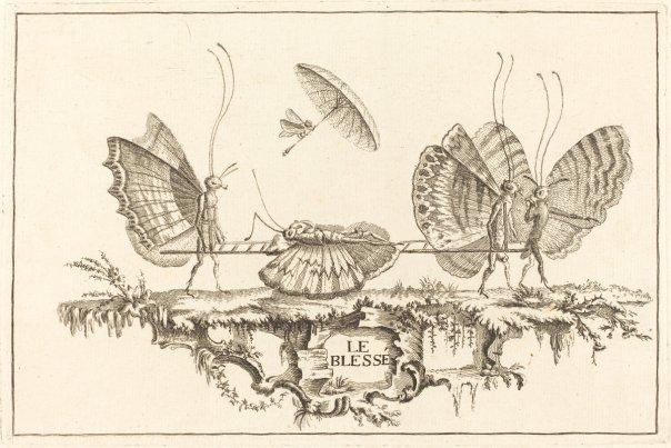 Le Blesse by Charles Germain de Saint-Aubin