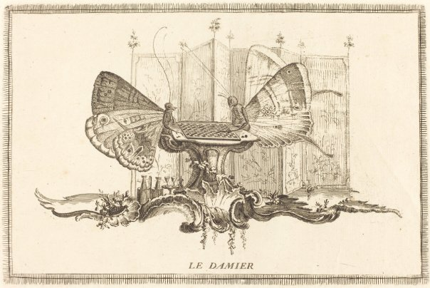 Le Damier by Charles Germain de Saint-Aubin