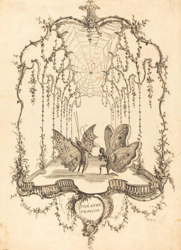 Théâtre Français by Charles Germain de Saint-Aubin