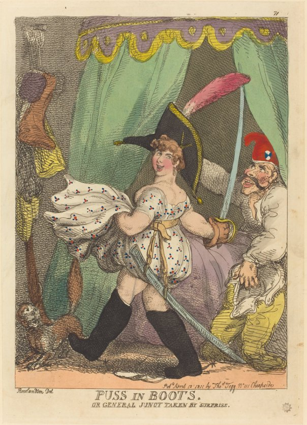 Puss in Boots, or General Junot Taken by Surprise  by Thomas Rowlandson (1811)